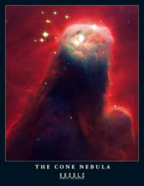 Poster - Hubble-Nasa,  The Cone Nebula