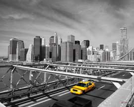 Poster - New York Taxi on Bridge