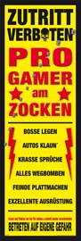 Poster - Gaming Progamer Am Zocken