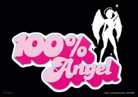Poster - 100% Angel Silhouette