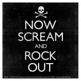 Keep Calm Now Scream And Rock Out