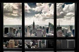 Poster - New York Fensterblick