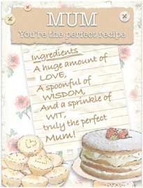 Poster - With Love Mum Recipe