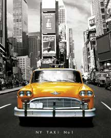 Poster - New York Taxi No. 1