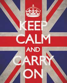 Poster - Keep Calm And Carry On British