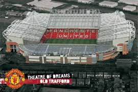 Poster - Fussball Manchester United - Old Trafford