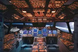 Poster - Educational - Bildung Space Shuttle Cockpit Columbia Raumschiff