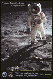 Poster - Educational - Bildung Walk on the Moon Mond