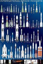 Poster - Educational - Bildung International Space Rockets Raketen