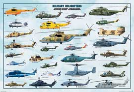 Poster - Educational - Bildung Military Helicopters Hubschrauber