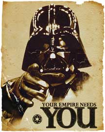 Poster - Star Wars Empire Needs You - Vader
