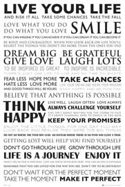 Poster - Motivational Live Your Life