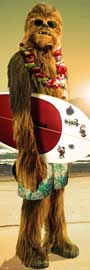 Poster - Star Wars Chewie Surf