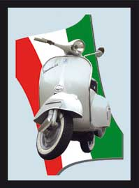 Poster - Vintage Italian Scooter