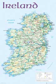 Poster - Landkarten Ireland Map 2012
