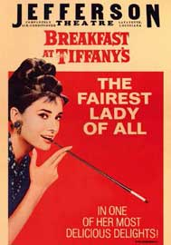 Poster - Breakfast at Tiffanys Red Design