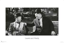 Laurel and Hardy Sitting On Bank