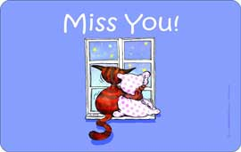 Poster - Miss you Katze