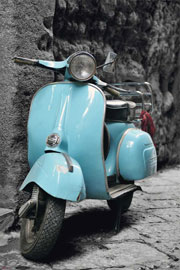 Poster - Vespa Scooter