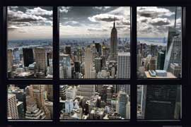 New York Skyline Window