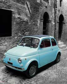 Poster - Italy - Vintage FIAT 500