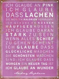 Poster - Motivational Ich glaube an Pink