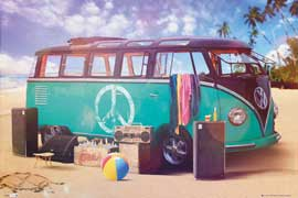 Poster - Volkswagen Party VW Camper