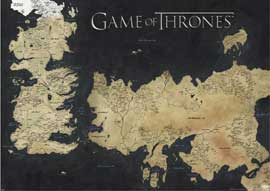 Game of Thrones Map of Westeros & Essos