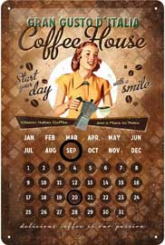 Poster - Coffee House Lady - Kalender