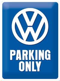Poster - Volkswagen Parking Only