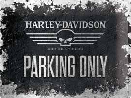 Poster - Harley Davidson Skull Parking Only