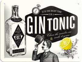 Poster - Retro Humour Gin Tonic