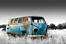 Poster - Volkswagen Abandoned Camper - Colourlight