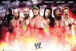 Poster - Wrestling WWE Collage 2014