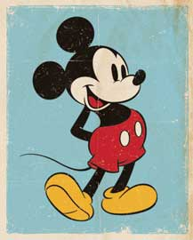 Poster - Disney Mickey Mouse Retro