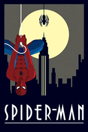 Poster - Marvel Deco - Spiderman Hanging