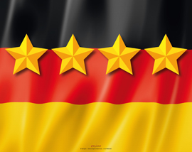 Poster - Deutschland Flagge 4 Sterne Mousepad