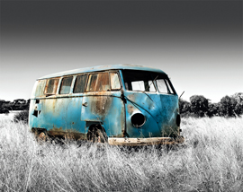 Poster - Volkswagen Abandoned Camper Colourlight Mousepad