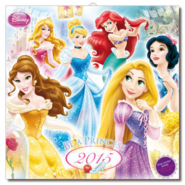 Disney Princess Prinzessinnen Kalender 2015