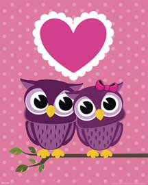 Eulen Verliebte Eulen Owls in Love