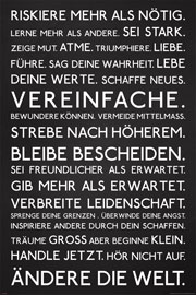 Poster - Motivational Riskiere mehr