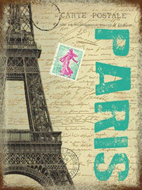 Poster - Paris Postcard