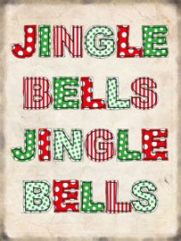 Poster - Weihnachten Jingle Bells