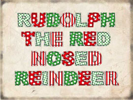 Poster - Weihnachten Rudolph the red nosed