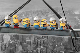 Poster - Minions Despicable Me On A Skyscraper