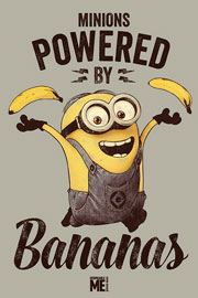 Poster - Despicable Me Powered by Bananas