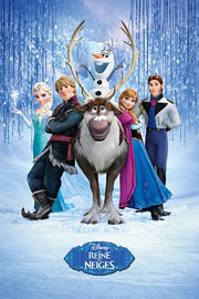 Poster - Frozen Cast FRENCH