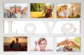 Poster - Collage Bilderrahmen Love