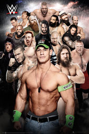 Poster - Wrestling WWE - Collage
