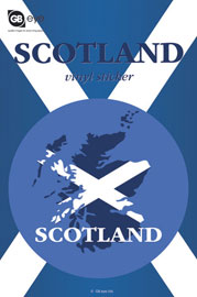 Poster - Scotland Map